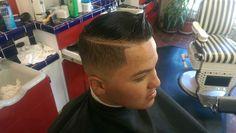 Comb over low razor Fade