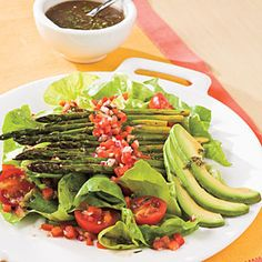 Roasted asparagus salad - perfect for putting fresh farmers market goodies to use!