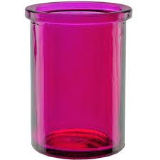 6oz round candle glass container fuchsia - case of 12   add a pop of excitement to your scented summer candle products. Shop glass now.com for wholesale quantities and pricing. #candles #candle #candlemaker #homefragrance #candlecontainers #candlejars #glassjarsforcandles