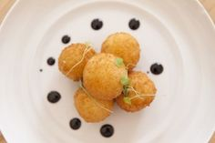 Goat Cheese, Salmon and Candied Citron fritters @ Antolia restaurant in the Roma.