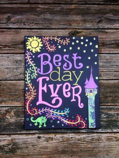 Best Day Ever 16x20 Hand Painted Canvas NOT a by mylittlemidge