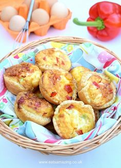Easy recipe for kids - super simple mini quiches - great for picnics lunch boxes and party food with free printable childr friendly recipe sheet from Eats Amazing UK