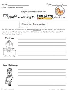 The World According to Humphrey (Skill Practice Sheet) | Grades ...