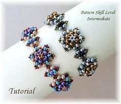Beading pattern instructions - beadweaving tutorial beaded seed bead jewelry – beadwoven beadwork bracelet - PERLICOPINE