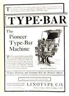 linotype advertisement, 1902