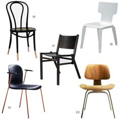 Hunt / Gather: 20 Great Dining Chairs Product Edit By Simone Haag / Hecker  Guthrie