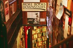 "a sign that says ""more books"" is always a good one."