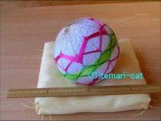 """Temari Lecture 31. How to make a Temari """"plum."""""""