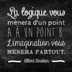 """""""The logic will take you to a point A to a point B. The imagination will take you everywhere."""" Albert Einstein  A genius quote."""