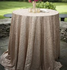 gold glitter party linen (winter luau party)