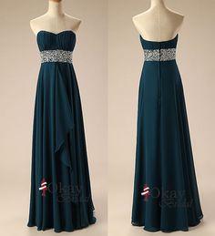 Sweetheart Prom Dress,Pretty Prom Dress,Long Prom Dress,Dark Teal Prom Dress,Chiffon Prom Dress,Cheap Prom Dress,PD1041