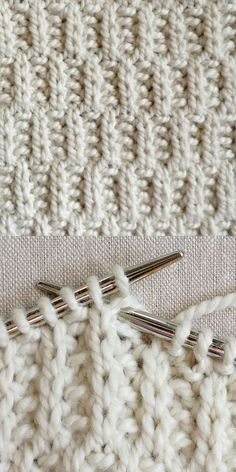 "#Knitting_Tutorial - ""Rambler Stitch has such great texture! Das nächste (checked rose fabric) geht nur in Reihen"