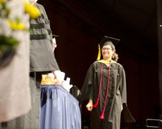 Ayla Stein at UMSI graduation. Thanks Cassandra Palmer for the ID!
