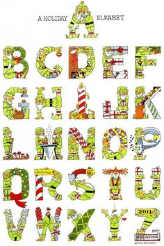 Pinzellades al món: Elfabet: abecedari per Nadal / Elfabeto: abecedario para Navidad / Elfabet: Christmas Alphabet