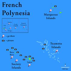 French Polynesia map | French Polynesia Map