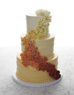 blue ombre metallic wedding cake - Google Search