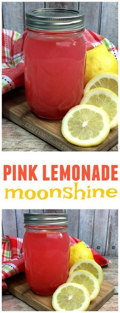This pink lemonade moonshine recipe is delicious for summer! Great fun drink