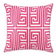 Greek Key Embroidered Pillow in Magenta from the Trina Turk at Joss & Main. Fab color!