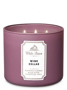 Scented Candles Wine Cellar Candle by Bath & Body Works Wine Candles, Bath Candles, 3 Wick Candles, Scented Candles, Candle Jars, Candels, Kitchen Candles, Homemade Candles, Bath Body Works