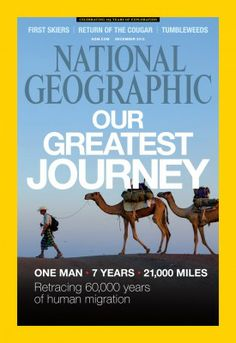 National Geographic magazine in December 2013