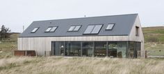 weathered larch cladding - Larch House - Skye, Scotland - Dualchas