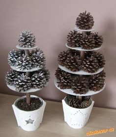 speciál Homemade Christmas, Diy Christmas Gifts, Christmas Time, Pine Cone Decorations, Christmas Decorations, Holiday Decor, Crafts To Do, Crafts For Kids, Arts And Crafts