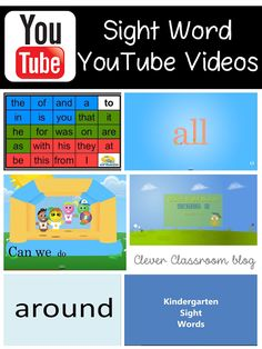 5 Sight Word Activities: Sight Word Playlist on YouTube