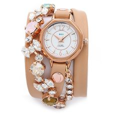 La Mer Collections Portugal Crystal Wrap Watch ($155) ❤ liked on Polyvore
