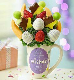 MugableR Yummy WishesTM Birthday Desserts Gifts Happy Fruit Arrangements