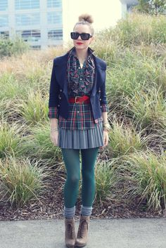 I'm trying out this look on the weekend, minus the green tights. Atlantic-Pacific: Recess