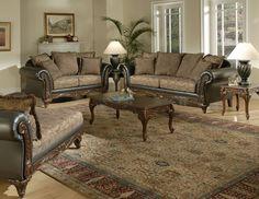 7685 Sofa and Loveseat