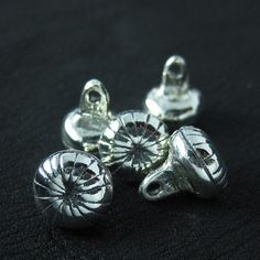 Silver buttons from medieval Russia from The Sunken City by DaWanda.com