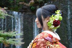新郎新婦様からのメール 冬の装花、 雅叙園様へ 花が、一番きれいに咲く瞬間に : 一会 ウエディングの花
