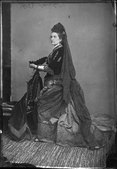 Miss Cantin in fancy dress, 1876