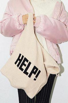 HELP Knit Mini Bag