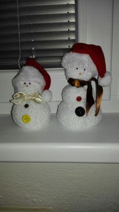 #handmade :) snowmans ❄❄