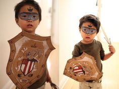 East face paint - DIY Super Hero: The Knight Of The Sun