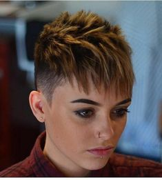 Today we have the most stylish 86 Cute Short Pixie Haircuts. We claim that you have never seen such elegant and eye-catching short hairstyles before. Pixie haircut, of course, offers a lot of options for the hair of the ladies'… Continue Reading → Funky Short Hair, Super Short Hair, Short Hair Cuts For Women, Short Hairstyles For Women, Short Hair Styles, Undercut Hairstyles, Funky Hairstyles, Funky Haircuts, Undercut Pixie