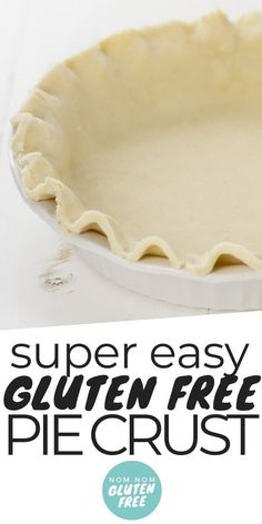 Gluten Free Pie Crust assures that you can have your pie and eat it too. Without the problematic protein known as gluten. Gluten Free Pie Crust assures that you can have your pie and eat it too. Without the problematic protein known as gluten. Cookies Gluten Free, Gluten Free Pastry, Gluten Free Crust, Gluten Free Deserts, Gluten Free Sweets, Foods With Gluten, Gluten Free Cooking, Dairy Free Recipes, Vegan Gluten Free