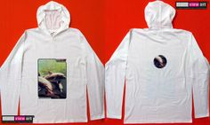 """""""Dolphins"""" UV-Blacklight Fluorescent & Glow-In-The-Dark Psychedelic Art Mens Hoodie in White, $46 in Tripleview Art eBay Store _____________________________ #psychedelic #psy #trance #psytrance #goatrance #rave #trippy #hippie #esoteric #mystic #spiritual #visionary #symbolism #UV #blacklight #fluorescent #fluoro #fluo #neon #glow #glowinthedark #phosphorescent #luminescent #art #hoodie #dolphins #swimming #underwater #deepsea #greenwaters #seascape www.TripleviewArt.com"""