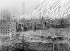 these photographs by Michael Wesely of New York's Museum of Modern Art have an exposure time of three years