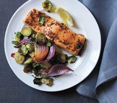 Maple-Glazed Salmon With Roasted Brussels Sprouts | Think you don't like Brussels sprouts? These tempting recipes for sides and mains will change your mind.