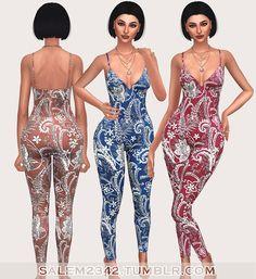 Sims 4 CC's - The Best: Bonnie Jumpsuit by Salem2342