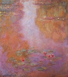 "lonequixote: "" Water Lilies (1908) by Claude Monet """