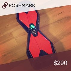 Black and red hoverboard Has some light scratches from learning how to ride Other