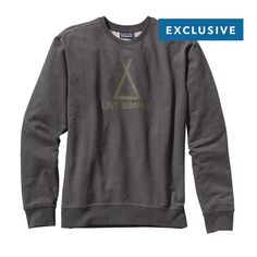 Shelter your assets and live simply with the new Patagonia Men's Tent Life Midweight Crew Sweatshirt. Made with Fair Trade Certified organic cotton. #FairTrade #organic #apparel
