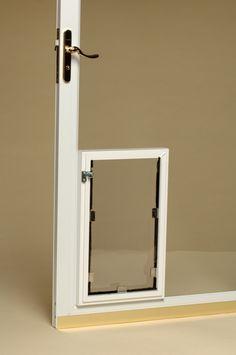 Glass door doggy door from Hale