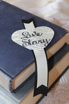 Bookmark wedding favors love story Jane Austen inspired