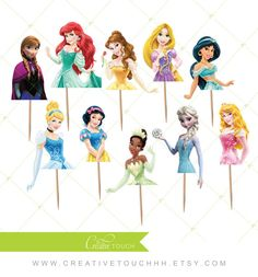 Ariel Cupcake Toppers The Little Mermaid by CreativeTouchhh