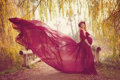 Chiffon Maternity Gown / Marissa gown / by SewTrendyAccessories